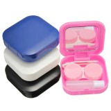 4 Colors Portable Cute Travel Contact Lens Case Eye Care Kit Holder Mirror Box