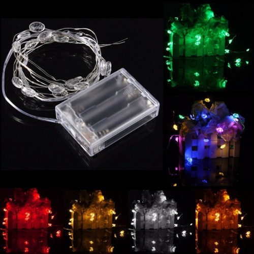 Accents White Led String Lights Battery Operated : 2M 20 LED Lucky Egg Style Battery Operated Xmas String Fairy Lights Party Wedding Christmas ...
