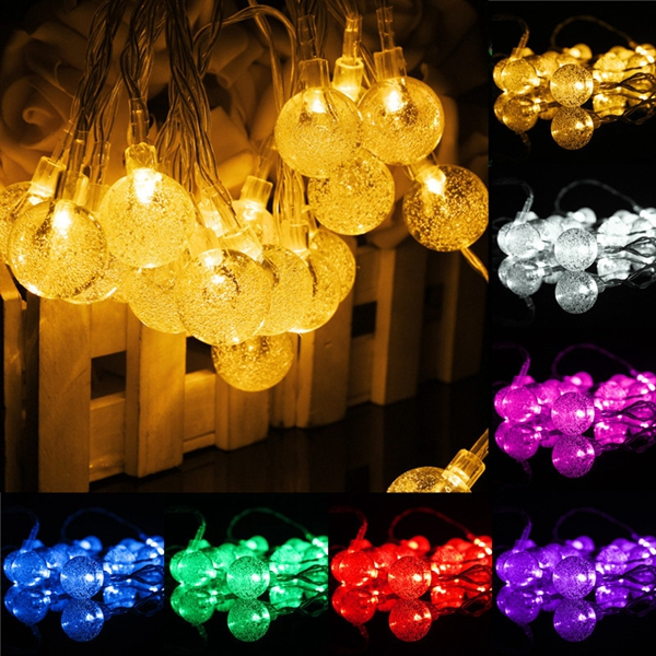 3M 20LED Battery Bubble Ball Fairy String Lights Garden Party Xmas Wedding Decor
