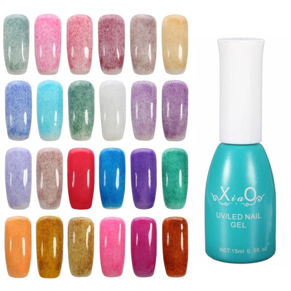 Furs LED UV Soak Off Nail Art Gel Polish Girls 24 Colors Design ...