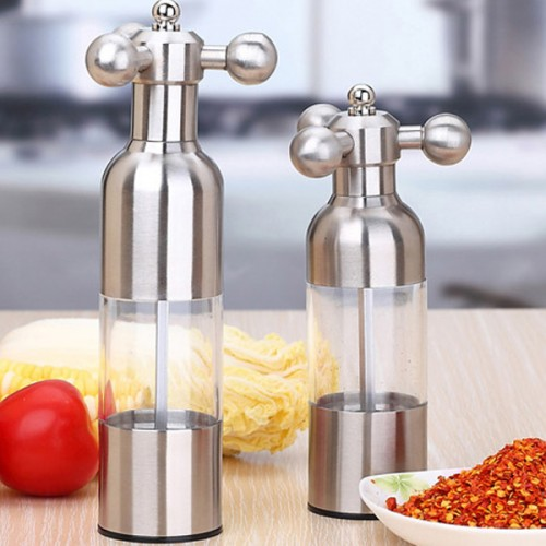 Stainless Steel Faucet Pepper Salt Mill Grinder Spice Mill Muller