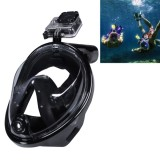 NEOPine Water Sports Diving Equipment Full Dry Diving Mask Swimming Glasses for GoPro HERO4 /3+ /3 /2 /1, L Size (Black)