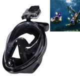 NEOPine Water Sports Diving Equipment Full Dry Diving Mask Swimming Glasses for GoPro HERO4 /3+ /3 /2 /1, M Size (Black)