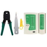 Portable RJ45 Crimping Crimper Stripper Punch Down RJ11 Cat5 Cat6 Wire Line Detector Ethernet Network Cable Tester Tools Kits