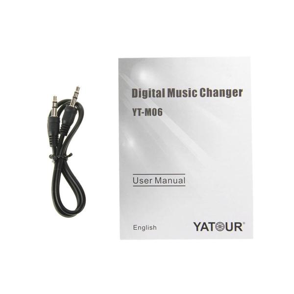 Yatour YT-M06 Digital Music Changer with Volkswagen 12 Pin Cable for Volkswagen Touareg / Magotan / PASSAT / Touran / KAIDI / Audi A4 (B7) / Skoda Octavia / Fabia, Support USB / SD / AUX / MP3 Music Interface