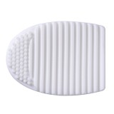 Silicone Cleaning Cosmetic Make Up Washing Brush Cleaner Scrubber Tool (White)