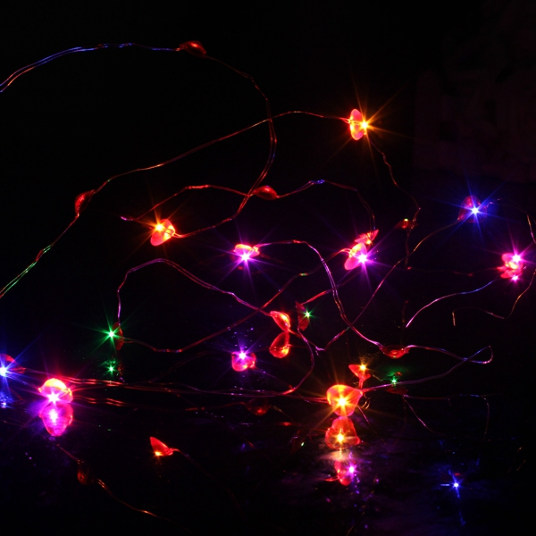 2M 20 LED Battery Powered Heart String Fairy Light For Christmas Party Weddinng Decor Alex NLD