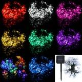 7M 50 LED Solar Christmas String Lights Blossom Flower Fairy Lamps Outdoor Xmas