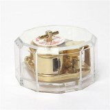 Acrylic Gold Wind Up Music Box:Castle In The Sky