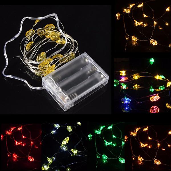 M led battery powered santa claus string fairy light