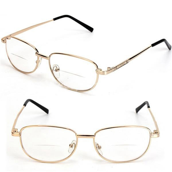 metal frame rimmed comfortable bifocal presbyopic fatigue