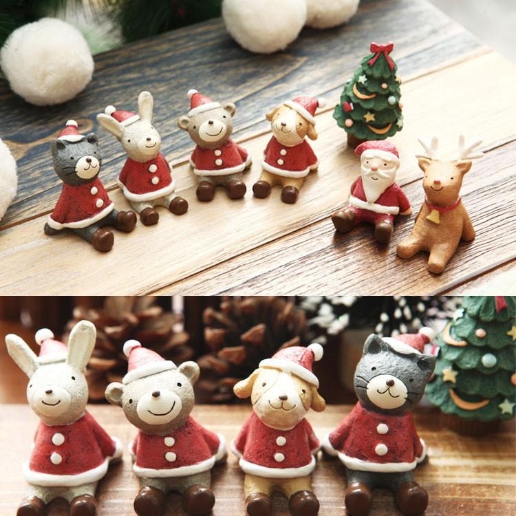 Christmas Decoration Wedding Gift : Christmas Wedding Santa Animals Decoration Cute Resin Gift Home Decor ...