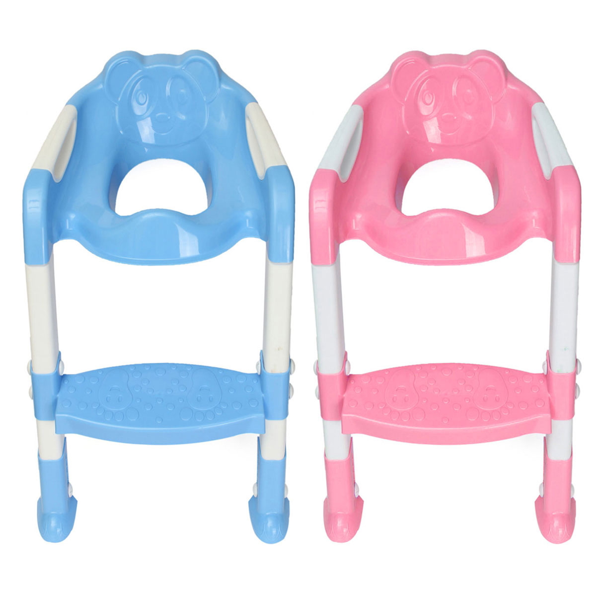 Kids potty toilet training safety adjustable ladder seat chair step