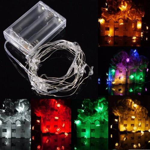 2M 20 LED Battery Powered Snowman String Fairy Light For Christmas Party Weddinng Decor Alex NLD