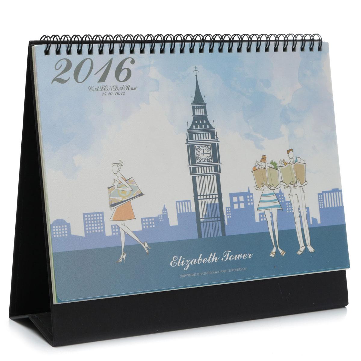 2016 calendar table calendar desk planner agenda stationery big ben