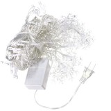 3.5M 100LED Snowflake Ice Curtain String Fairy Lights Xmas Party Wedding Decor 110V