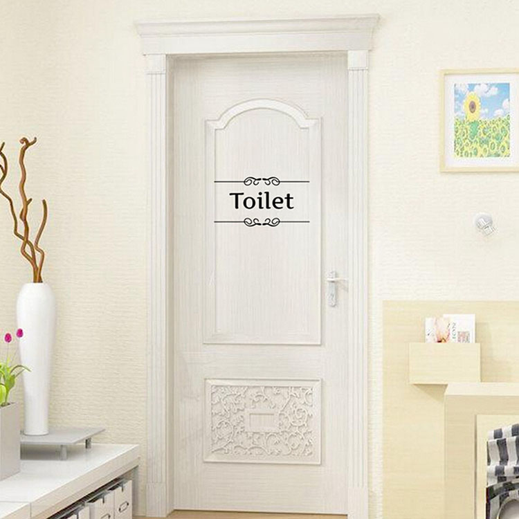 Removable Pvc Bathroom Toilet Wall Sticker Door Decals Diy