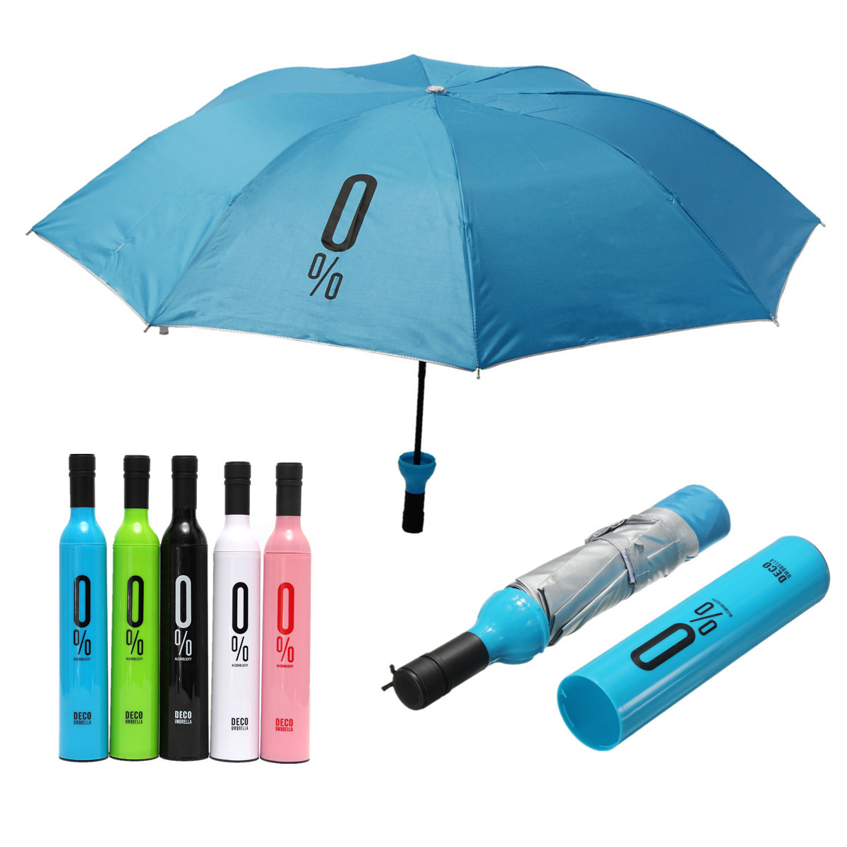 compact automatic umbrella fashion wine bottle folding anti uv parasol sun rain gear alex nld. Black Bedroom Furniture Sets. Home Design Ideas