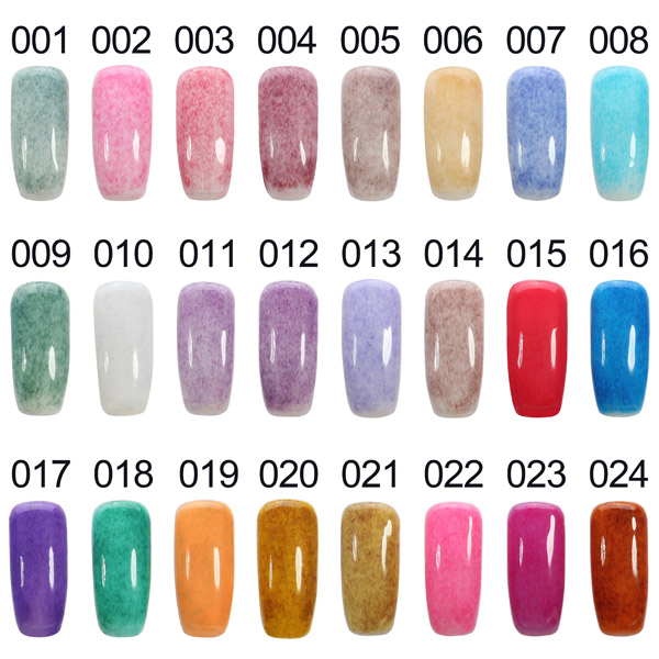 Furs LED UV Soak Off Nail Art Gel Polish Girls 24 Colors Design ...