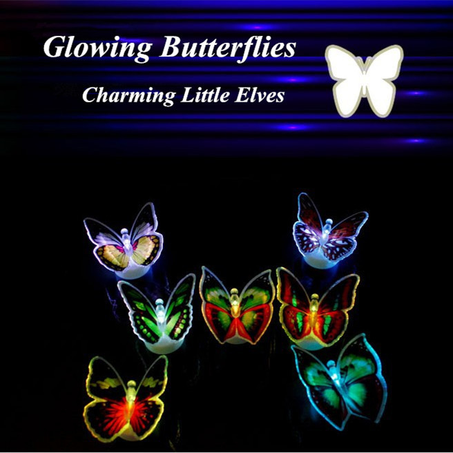 decorative night lights led butterfly light colors changing 30300