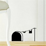 Cute Mouse Hole Wall Decal Cartoon Mouse Home Sticker Wall Decor Children Decor Vinyl Sticker