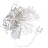 3.5M 100LED Snowflake Ice Curtain String Fairy Lights Xmas Party Wedding Decor 220V
