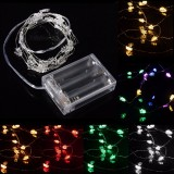2M 20 LED Battery Powered Christmas Tree String Fairy Light For Xmas Party Weddinng Decor