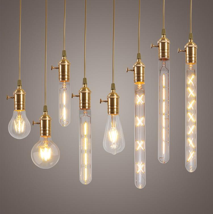 5x E27 8w Edison Retro Vintage Filament Cob Led Bulb Candle Light Lamp Led Bulbs & Tubes