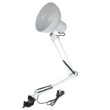 Adjustable Swing Arm Bedside Lamp Clamp-On Study Reading Desk Table Light