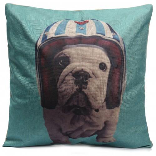 Throw Pillows Dogs : Dogs Throw Pillow Case Square Cushion Cover Home Office Sofa Car Decor Alex NLD