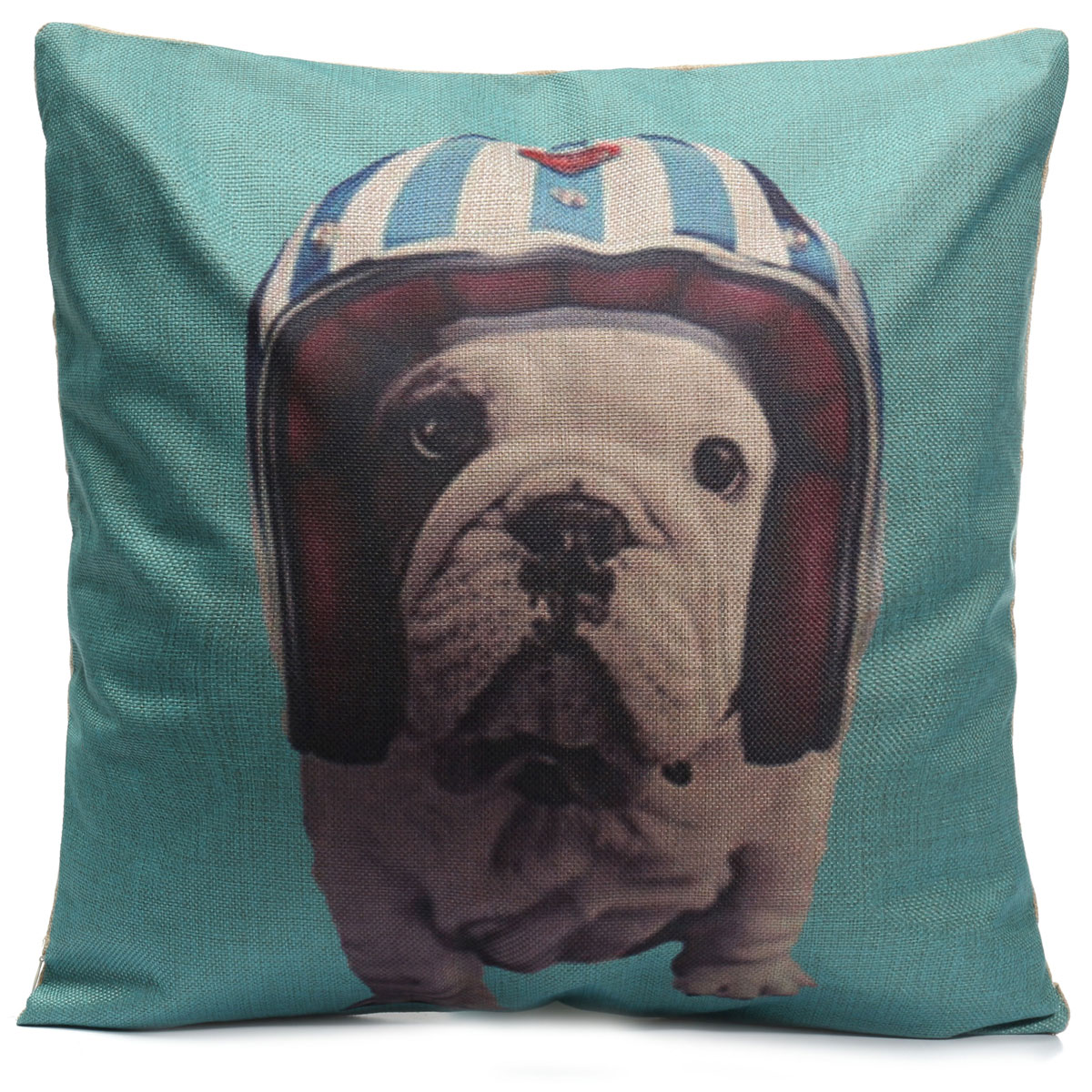 Dogs Throw Pillow Case Square Cushion Cover Home Office Sofa Car Decor