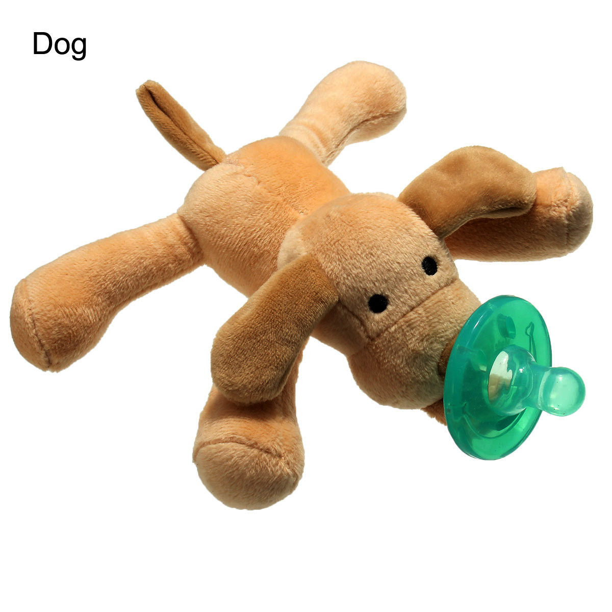 Cuddly Plush Animal Nipples Silicone Pacifiers For Newborn Infant Baby Boy Girl