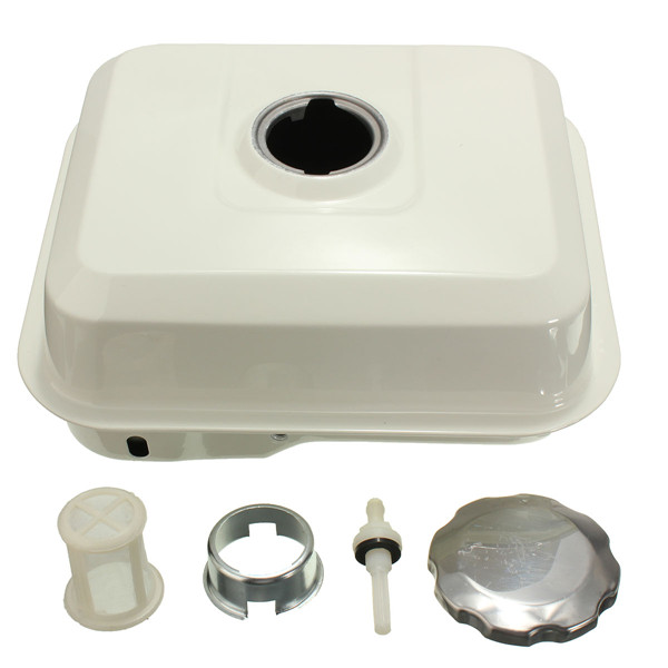 fuel gas tank with petcock gas cap filter white for honda
