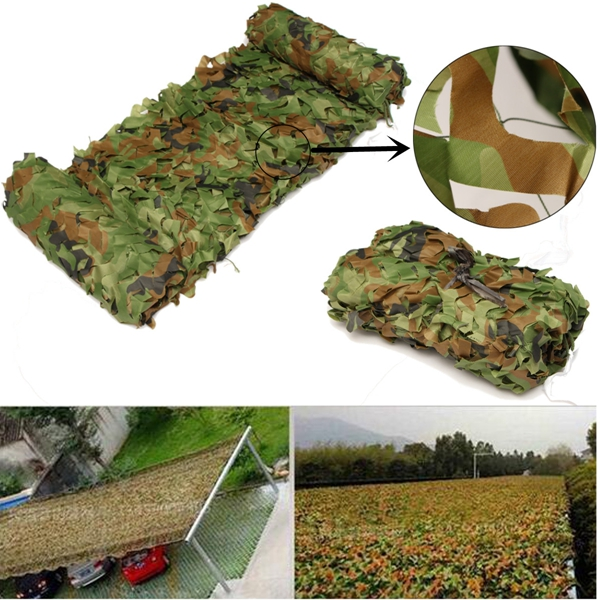 1Mx2M Woodland Camouflage Camo Netting Jungle Camping Military Hunting