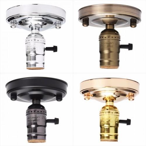 E27/E26 AC110-250V Edison Retro Vintage Ceiling Light Lamp