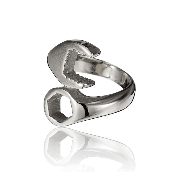 316L Titanium Steel Punk Biker Wrench Ring For Men Alex NLD