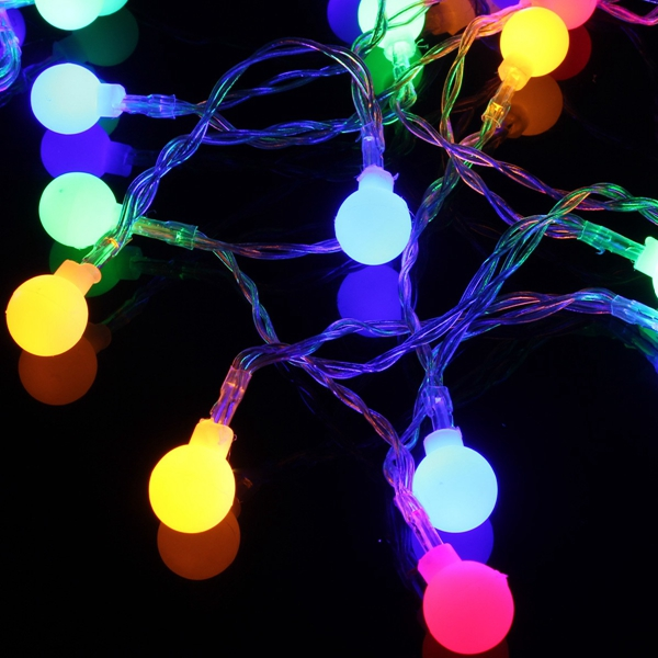New 20m 200 led waterproof colourful ball string fairy light wedding party holiday decor 110v - Guirlande lumineuse exterieur 20m ...