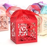 10pcs Pierced Birdcage Candy Sweet Gift Box Wedding Party Cake Chocolate Box