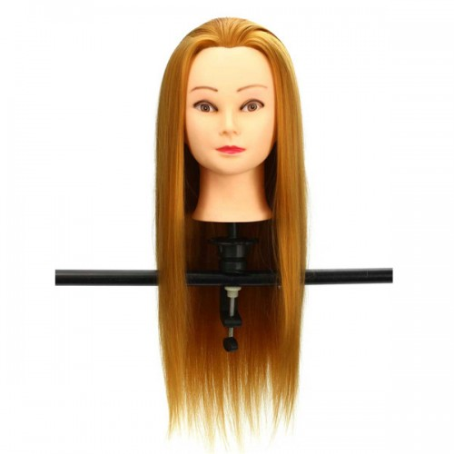 30 golden real hair hair salon mannequin training head for Actual beauty salon