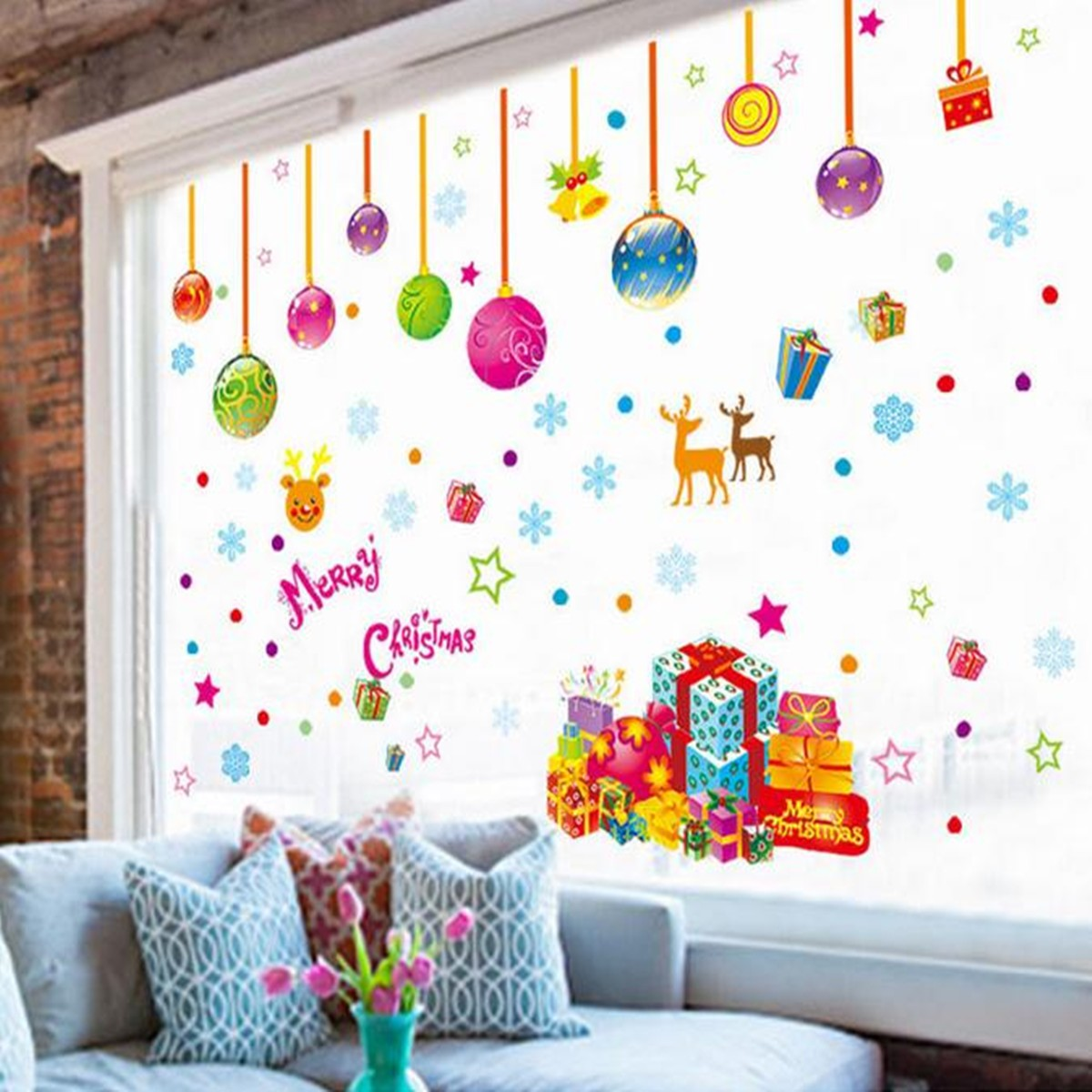 How To Decorate Living Room Window For Christmas