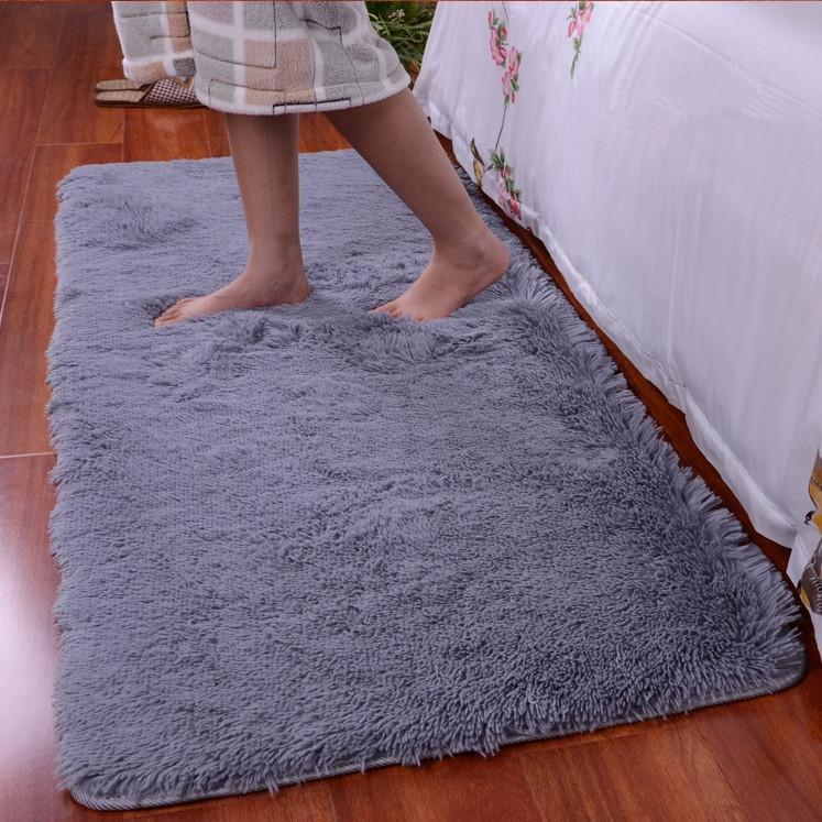 90x160cm bedroom fluffy floor carpet mat soft shaggy