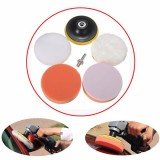 6pcs 4 Inch Sponge and Woolen Polishing Buffing Pad Kit For Car Polisher