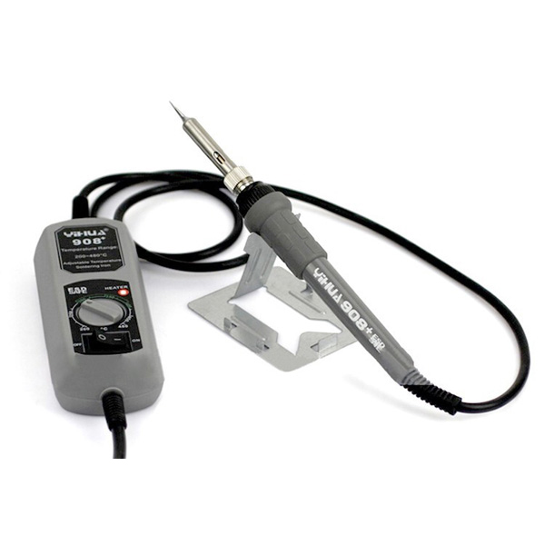 YIHUA 908+ 220V 60W Electric Iron Soldering Station Thermostat Mini Iron Soldering Station for SMT SMD Welding Rework Repair with 5pcs Iron Tsui