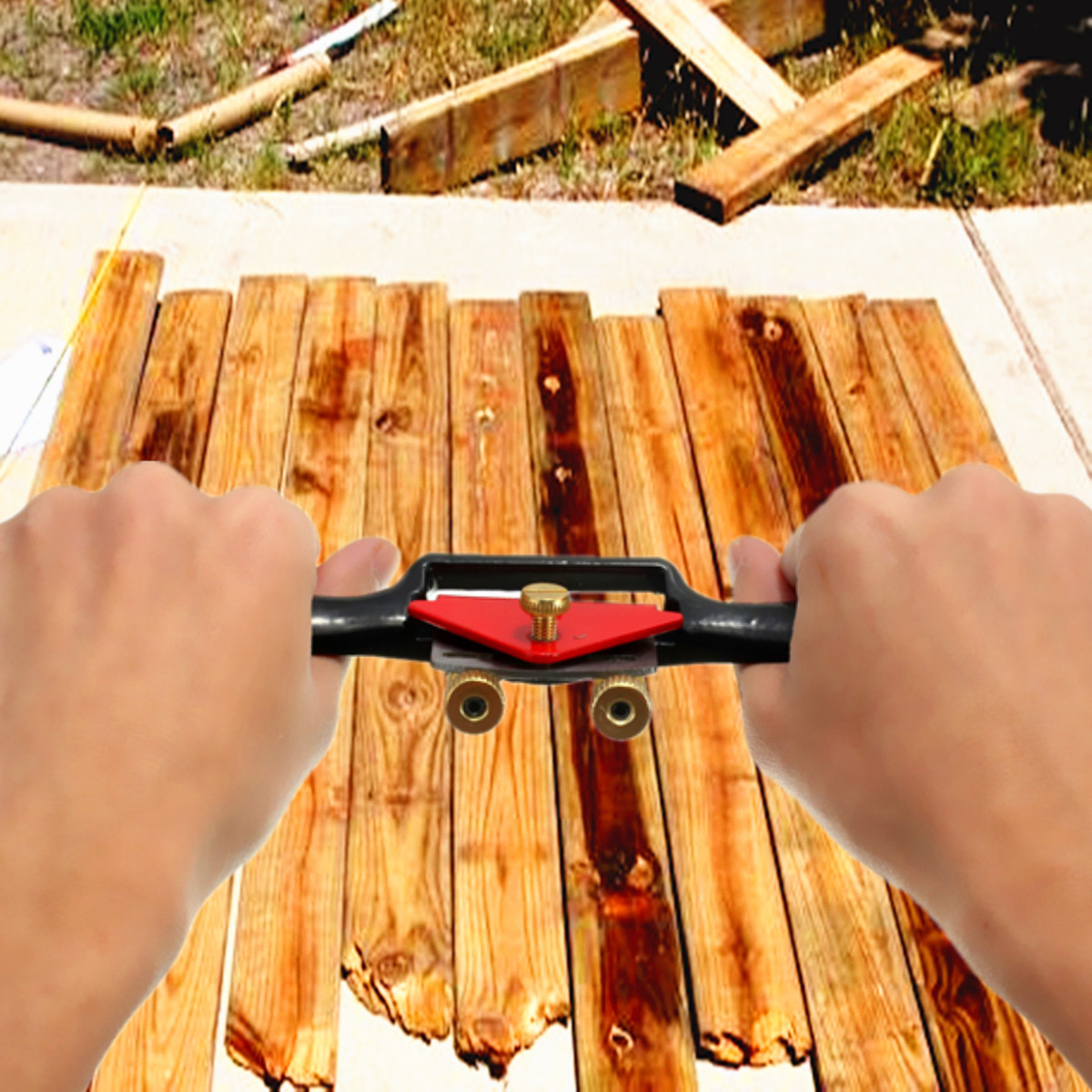 9 Inch Adjustable Wood Craft Metal Blade Spoke Shave Plane Woodworking Hand Tool