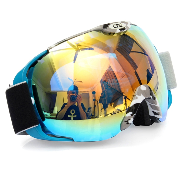 Unisex Anti-fog UV Dual Lens Winter Racing Outdoor Snowboard Ski Goggles Sunglasses CRG80-8A