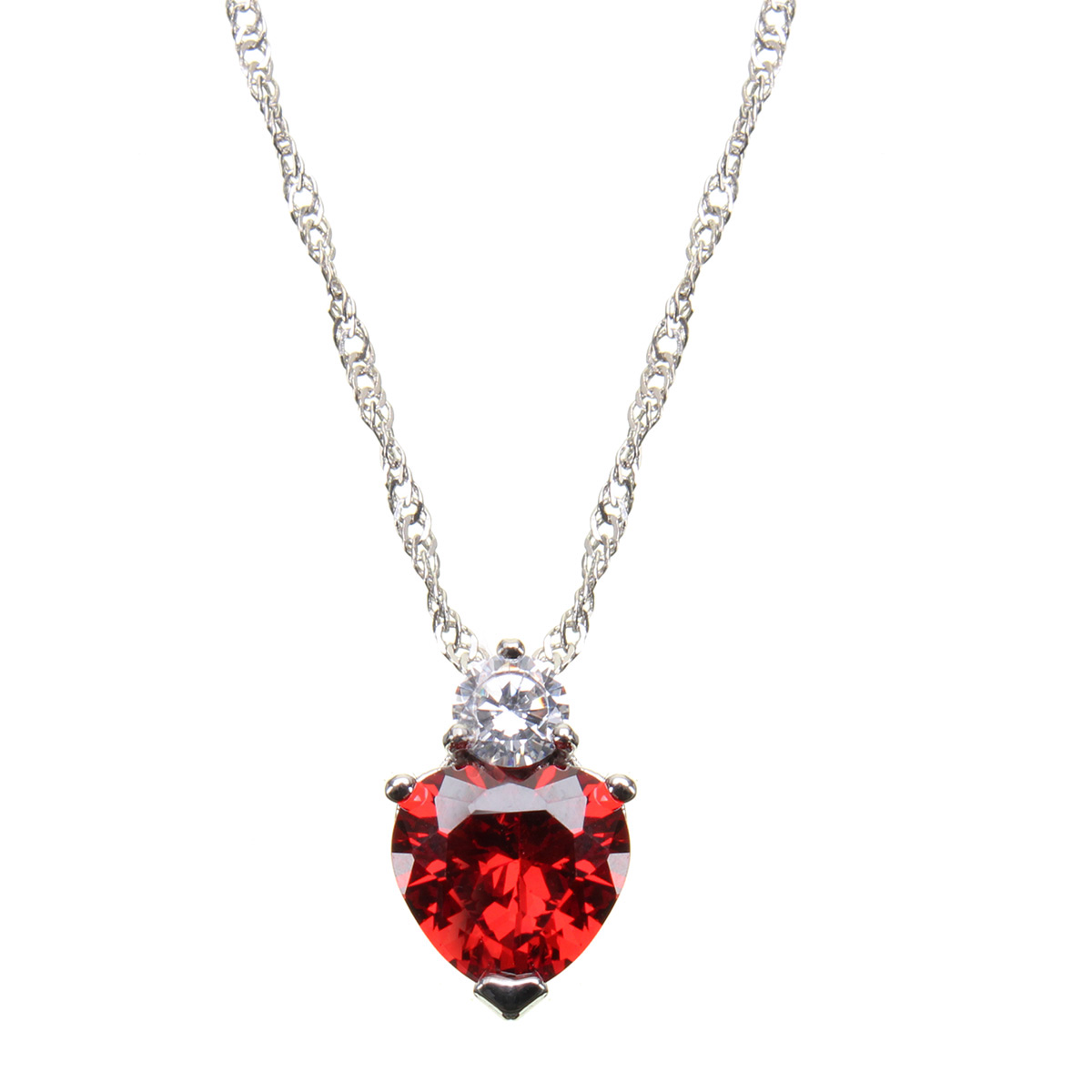 Heart Love Crystal Charm Pendant Women Necklace Jewelry ...