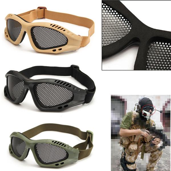 884585ca3f9 TRIXES Tactical SWAT Airsoft Eye Protection Goggles No Fog Metal ...