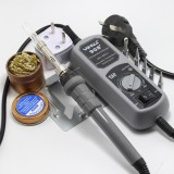 YIHUA 908+ 110V 60W US Plug Electric Iron Soldering Station Thermostat Mini Iron Soldering Station for SMT SMD Welding Rework Repair with 5pcs Iron Tsui