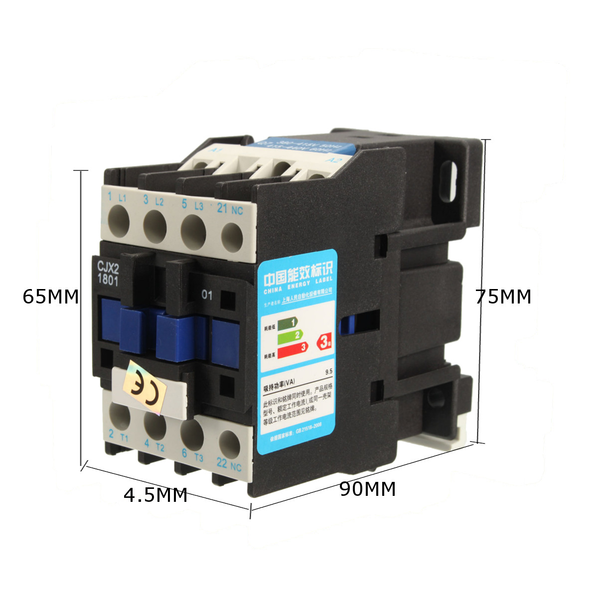 Cjx2 1801 Ac 220v 380v 18a Contactor Motor Starter Relay 3