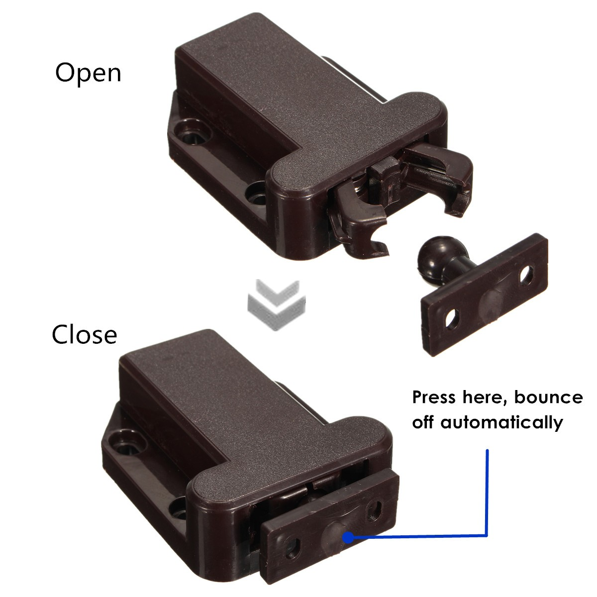 Kitchen Cabinet Door Latches Push To Open Beetles Lock Drawer Cabinet Latch Catch Touch